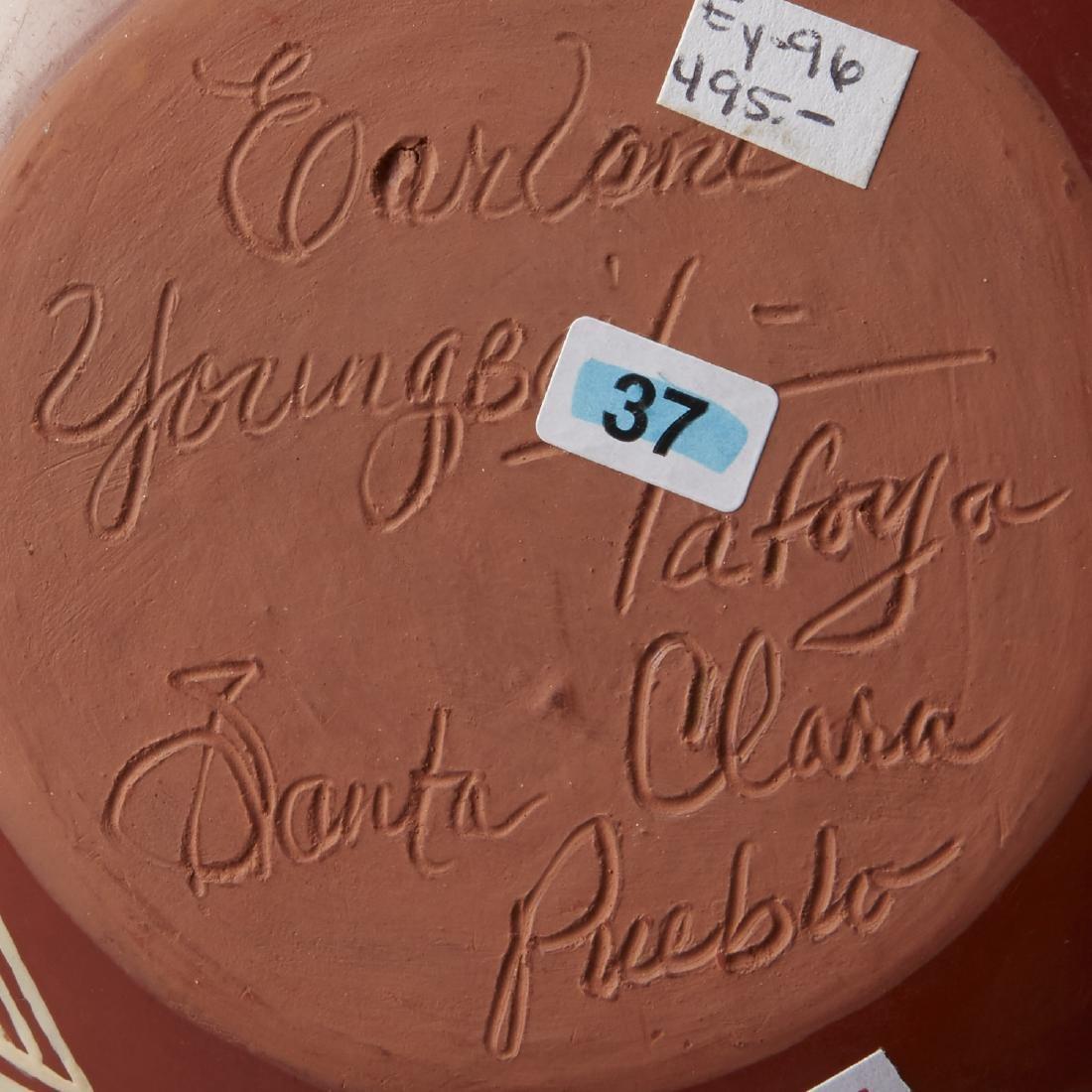 5 Santa Clara Redware Jars Tafoya, Gachapin - 7