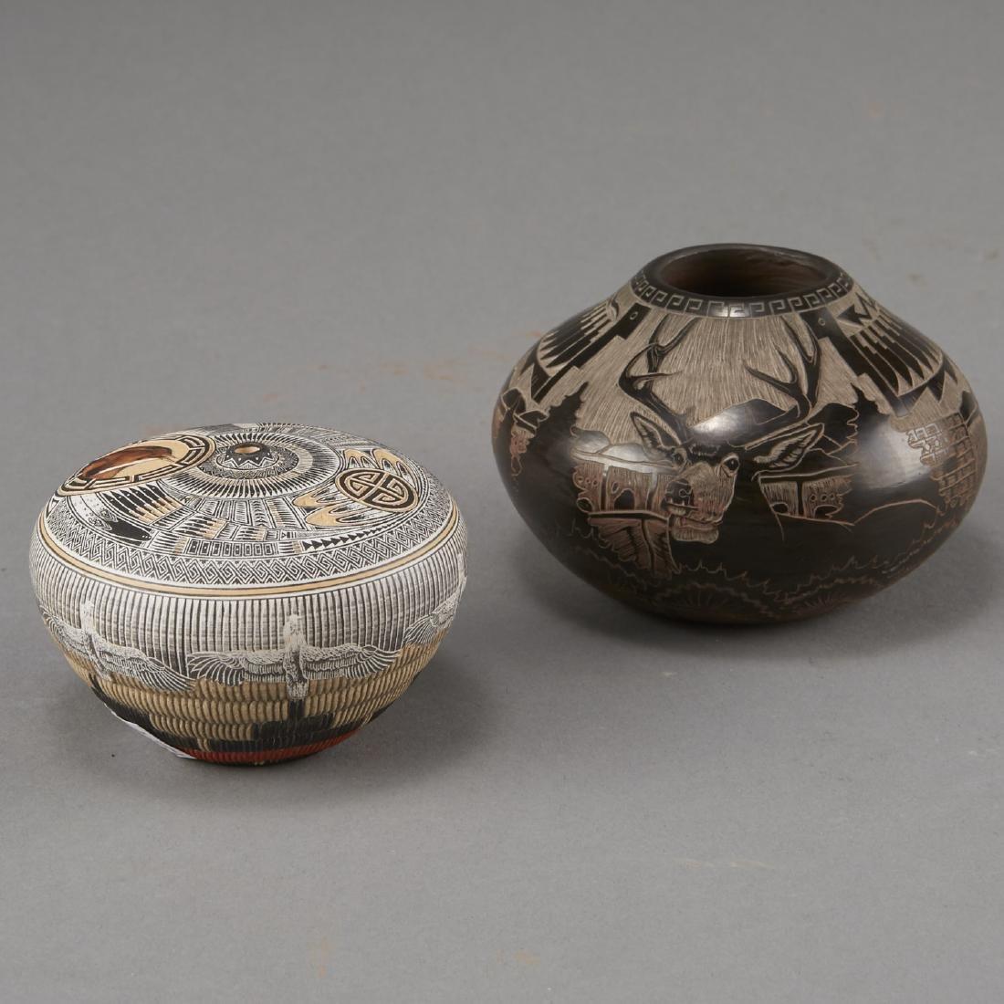 Naranjo, Nez Santa Clara Pottery Jars