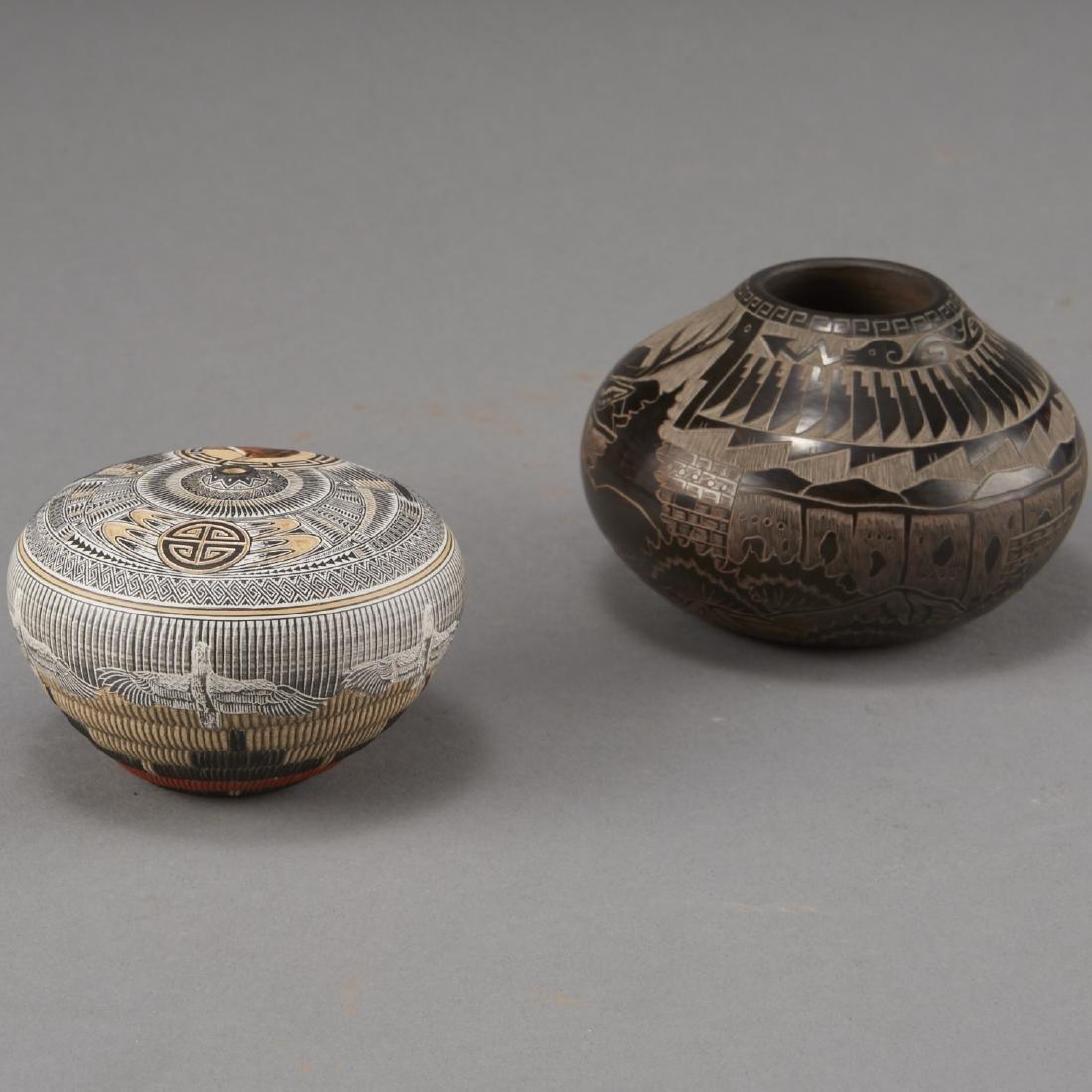 Naranjo, Nez Santa Clara Pottery Jars - 2