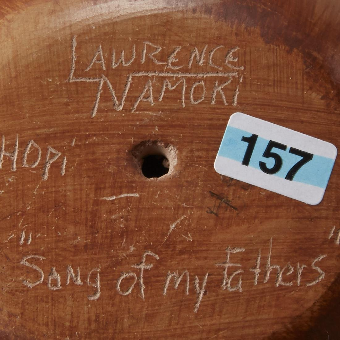 Group of 4 Lawrence Namoki Hopi Carved Jars - 6