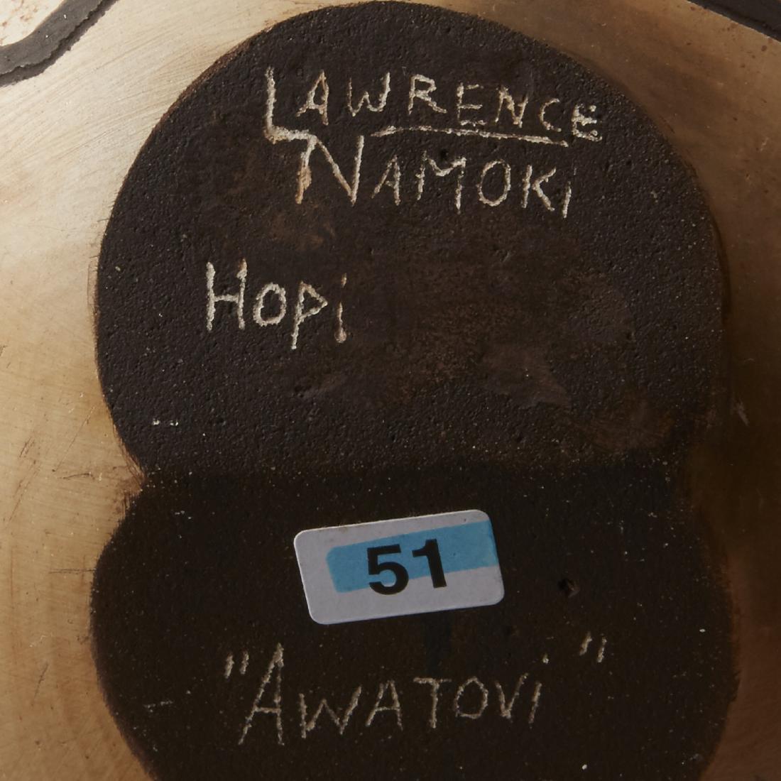 Group of 4 Lawrence Namoki Hopi Carved Jars - 7