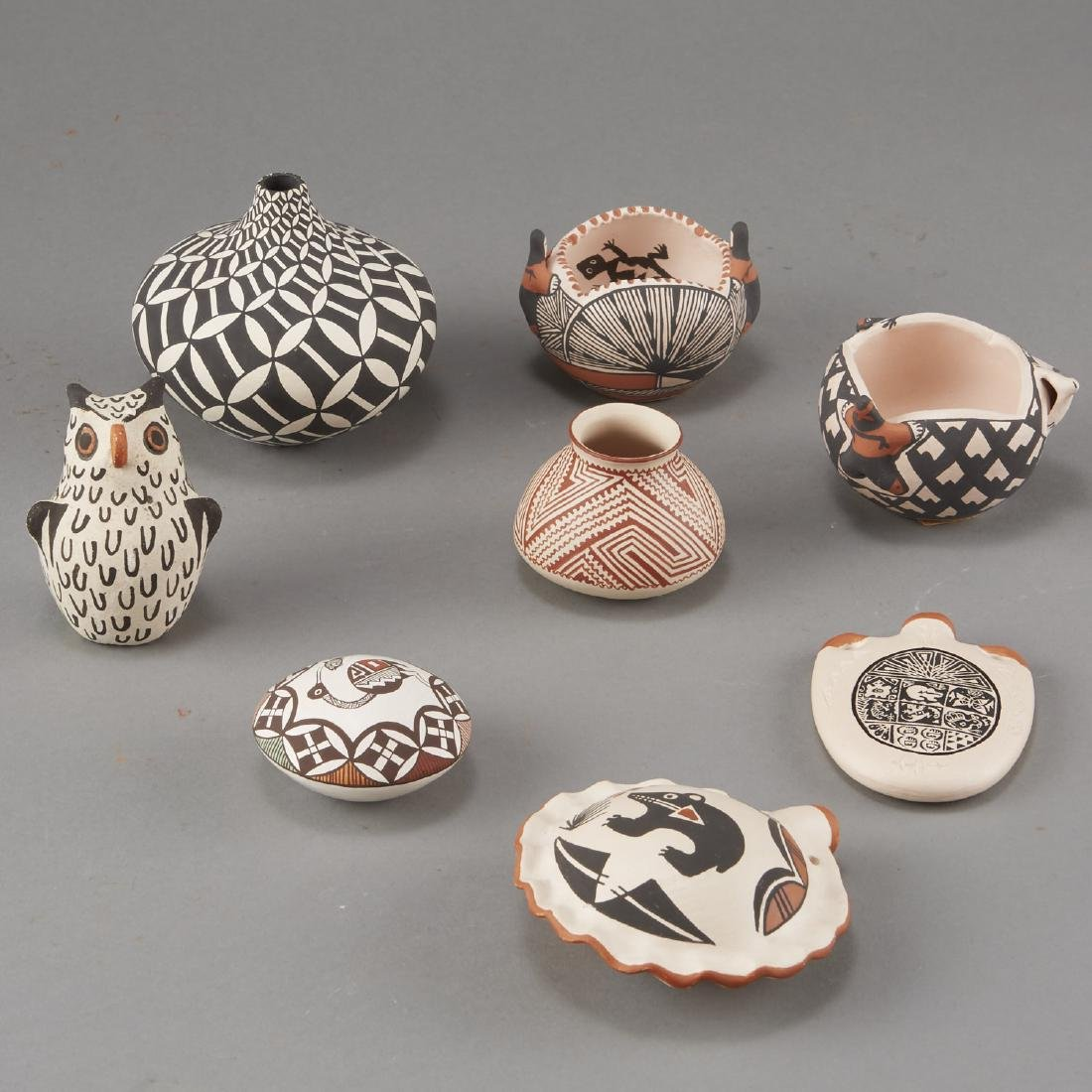Group of 8 Acoma Pueblo Pottery