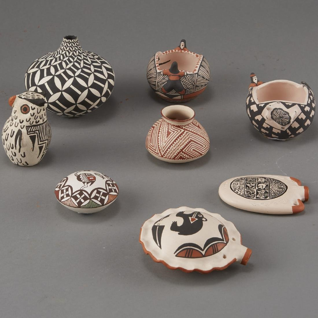 Group of 8 Acoma Pueblo Pottery - 2