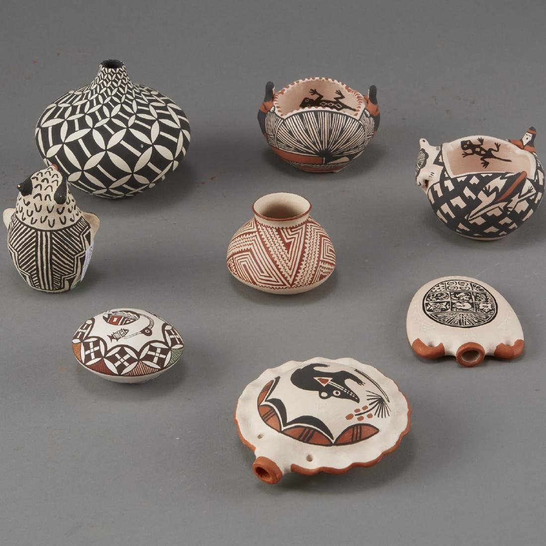 Group of 8 Acoma Pueblo Pottery - 3