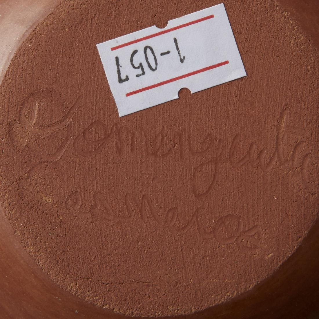 Group of 5 Santa Clara Redware Carved Pottery - 5