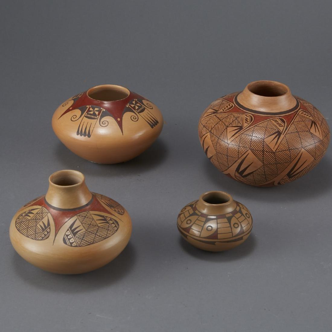 Group of 4 Nampeyo Hopi Polychrome Jars