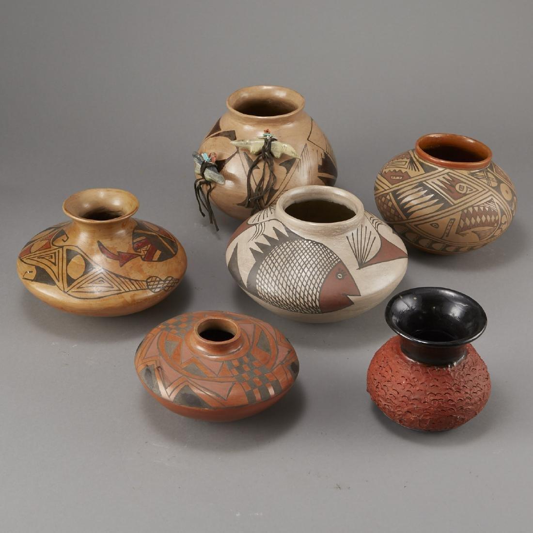Group of 6 Polychrome Jars Fetish
