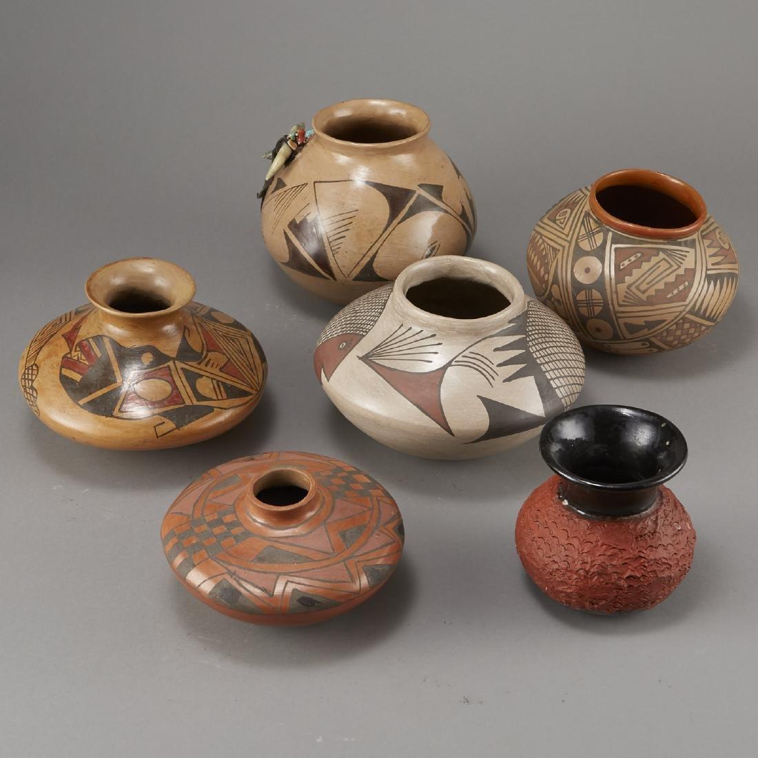 Group of 6 Polychrome Jars Fetish - 2