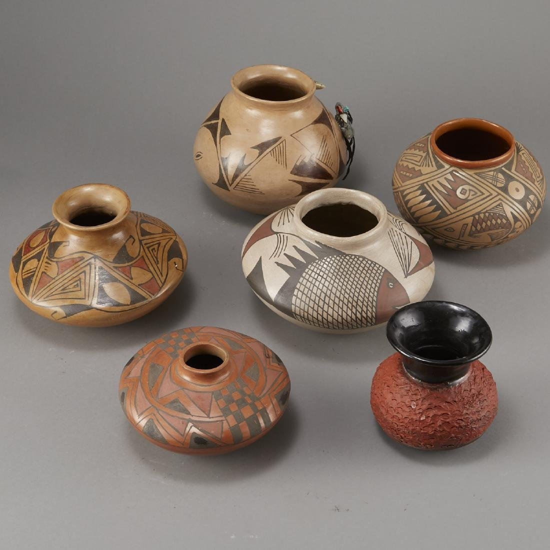 Group of 6 Polychrome Jars Fetish - 3