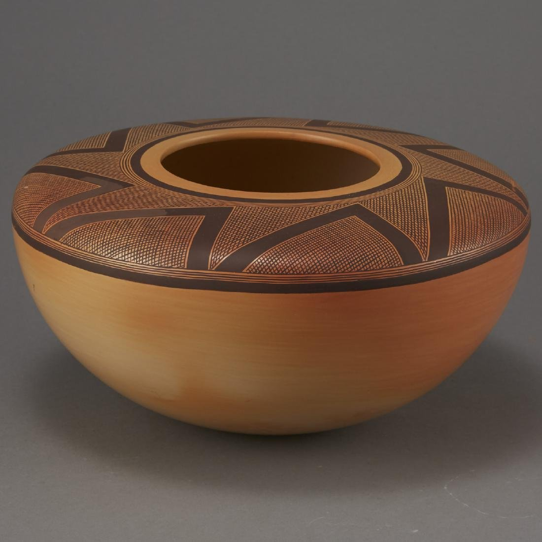 Jacob Nampeyo Polychrome Jar with Hand Print