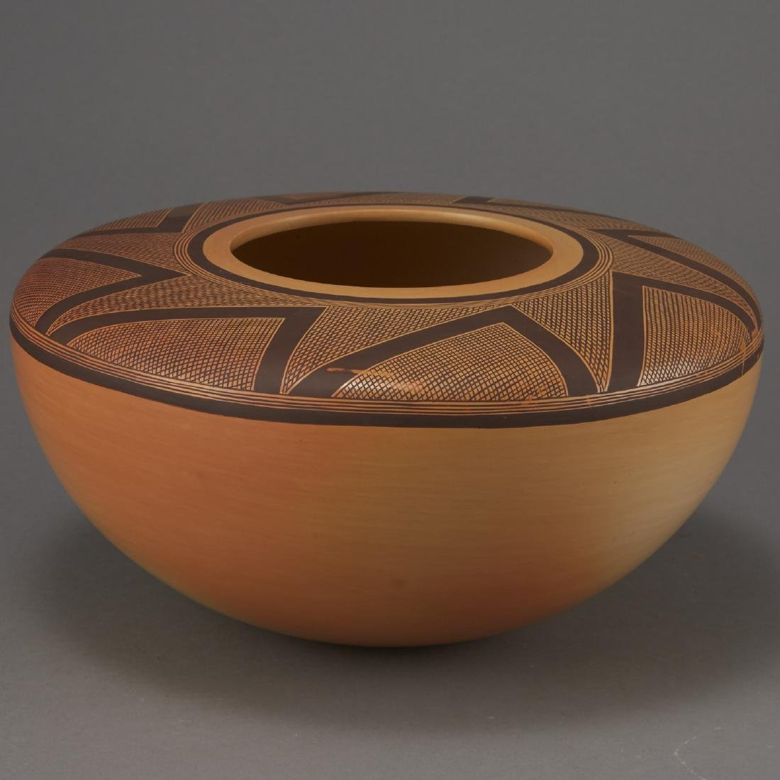 Jacob Nampeyo Polychrome Jar with Hand Print - 2