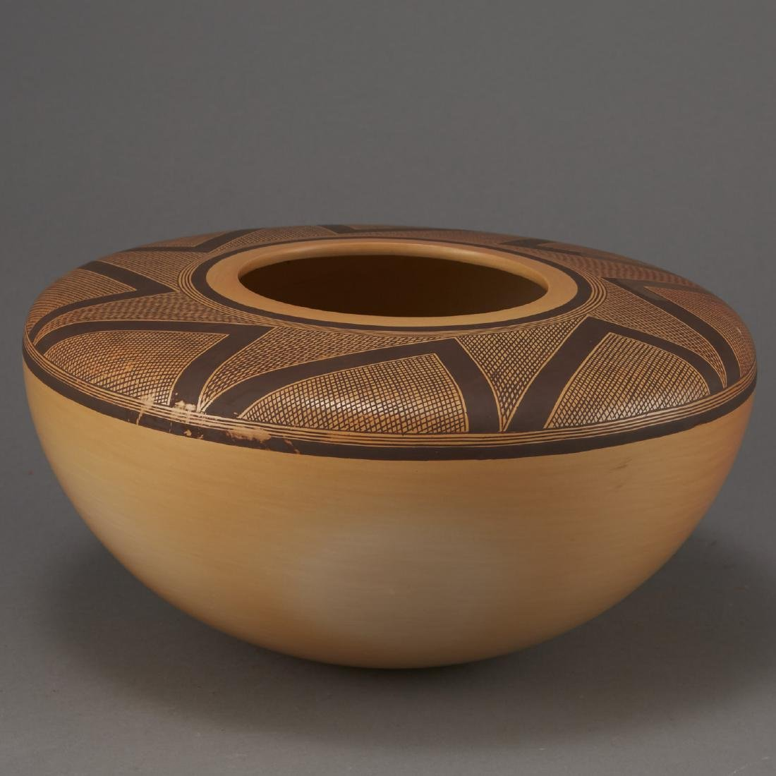 Jacob Nampeyo Polychrome Jar with Hand Print - 3