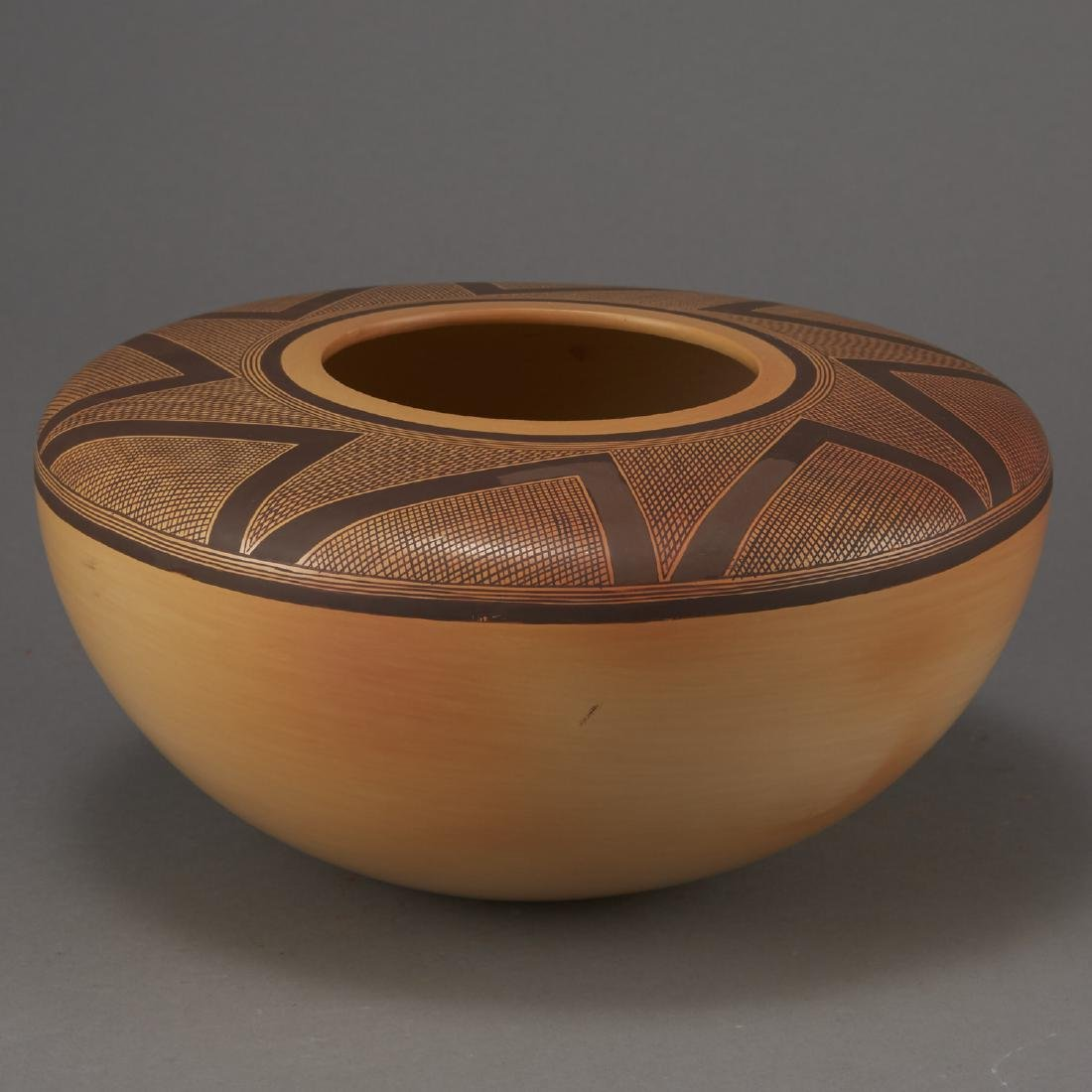 Jacob Nampeyo Polychrome Jar with Hand Print - 4