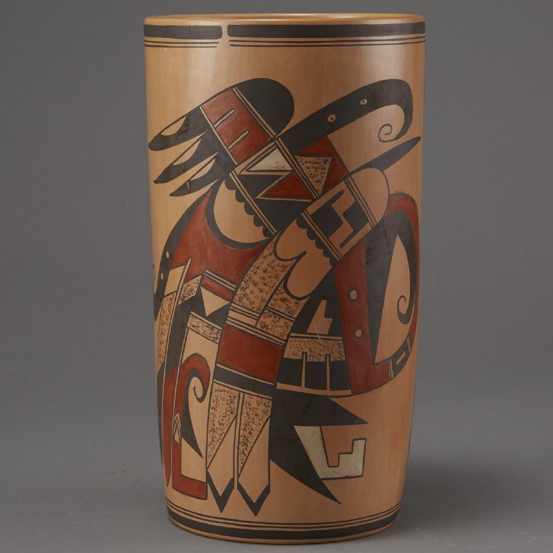 Jean Sahmie, Hopi/Tewa Cylinder Jar