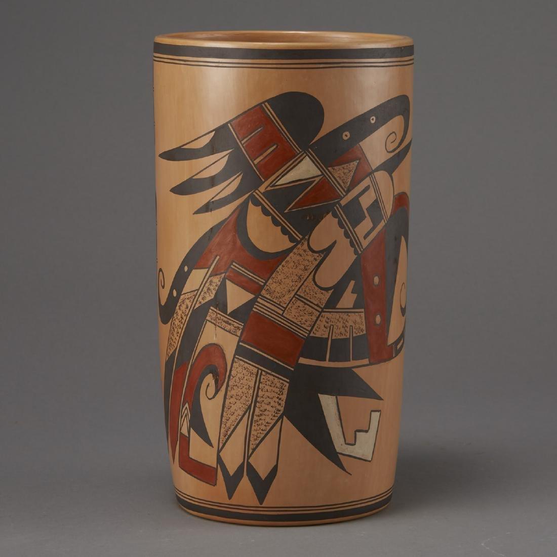 Jean Sahmie, Hopi/Tewa Cylinder Jar - 3