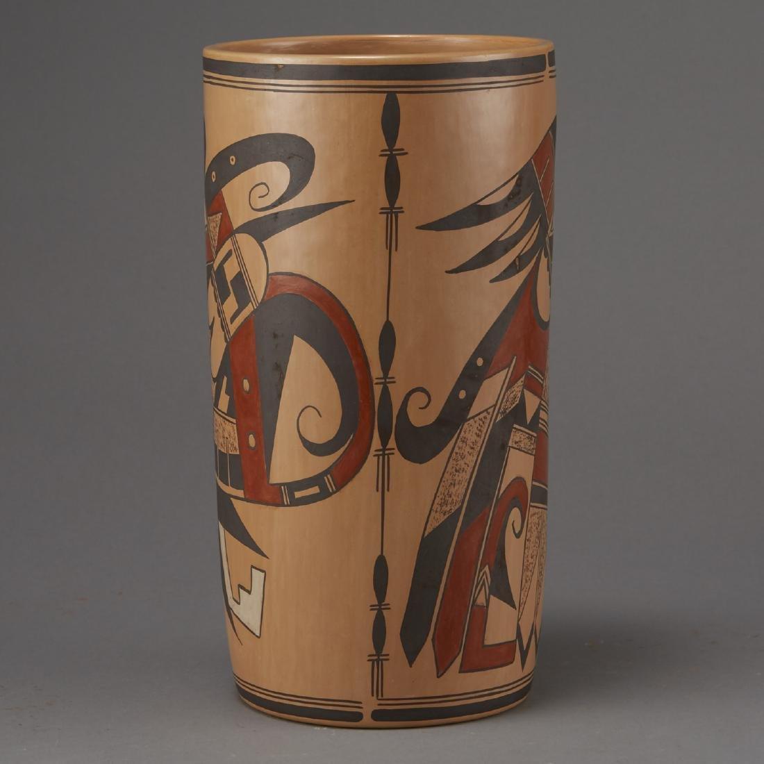 Jean Sahmie, Hopi/Tewa Cylinder Jar - 4
