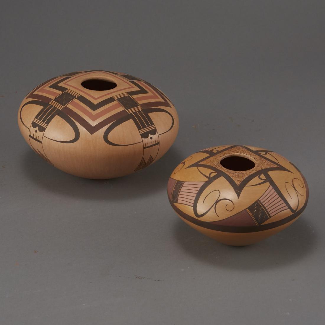 2 Jacob Nampeyo Koopee Polychrome Jars