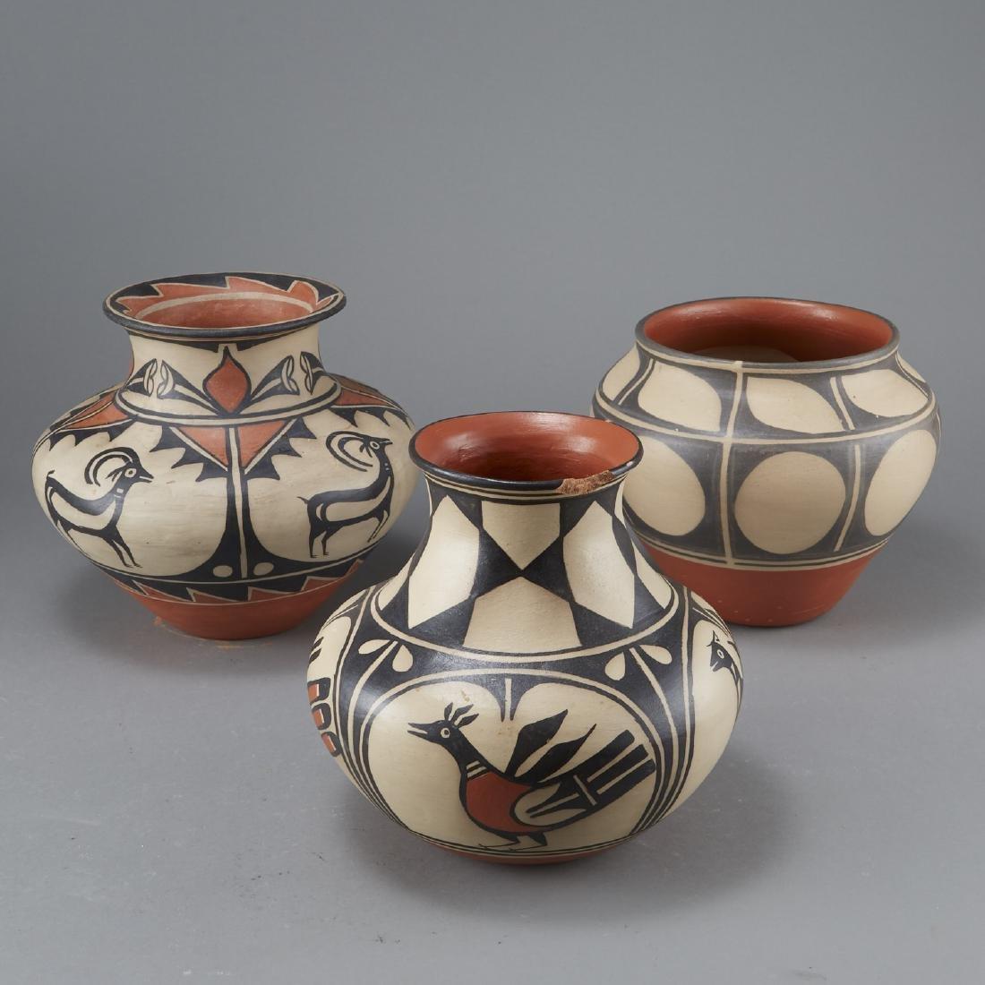 3 Tenorio Kewa Santo Domingo Pottery Jars - 2