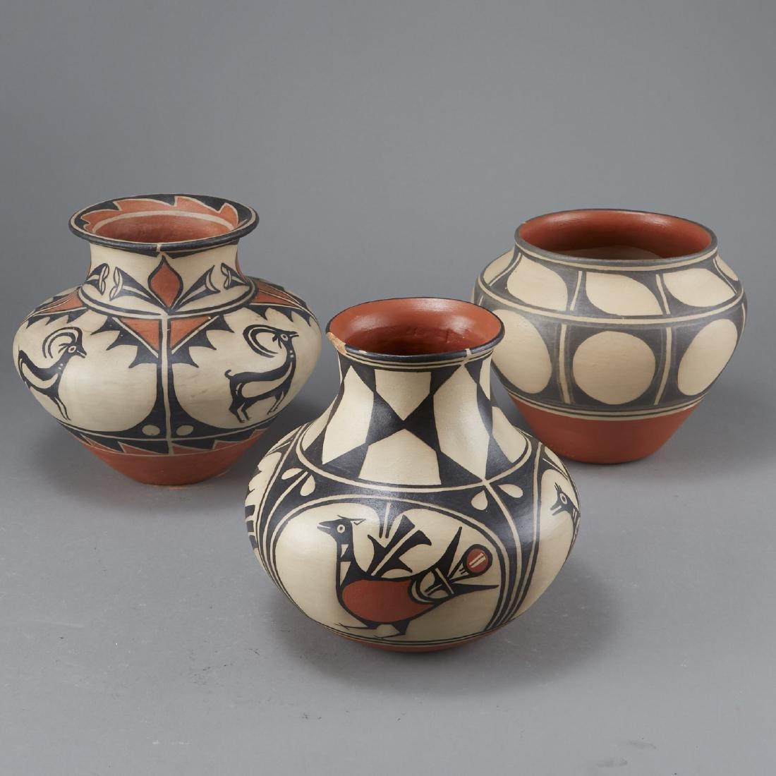 3 Tenorio Kewa Santo Domingo Pottery Jars - 3