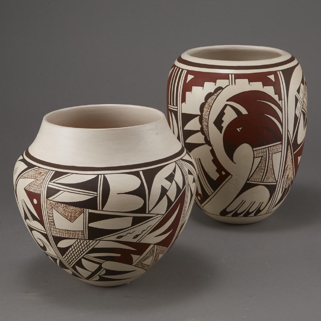 2 Joy Navasie Frog Woman Pottery Vase Bowl