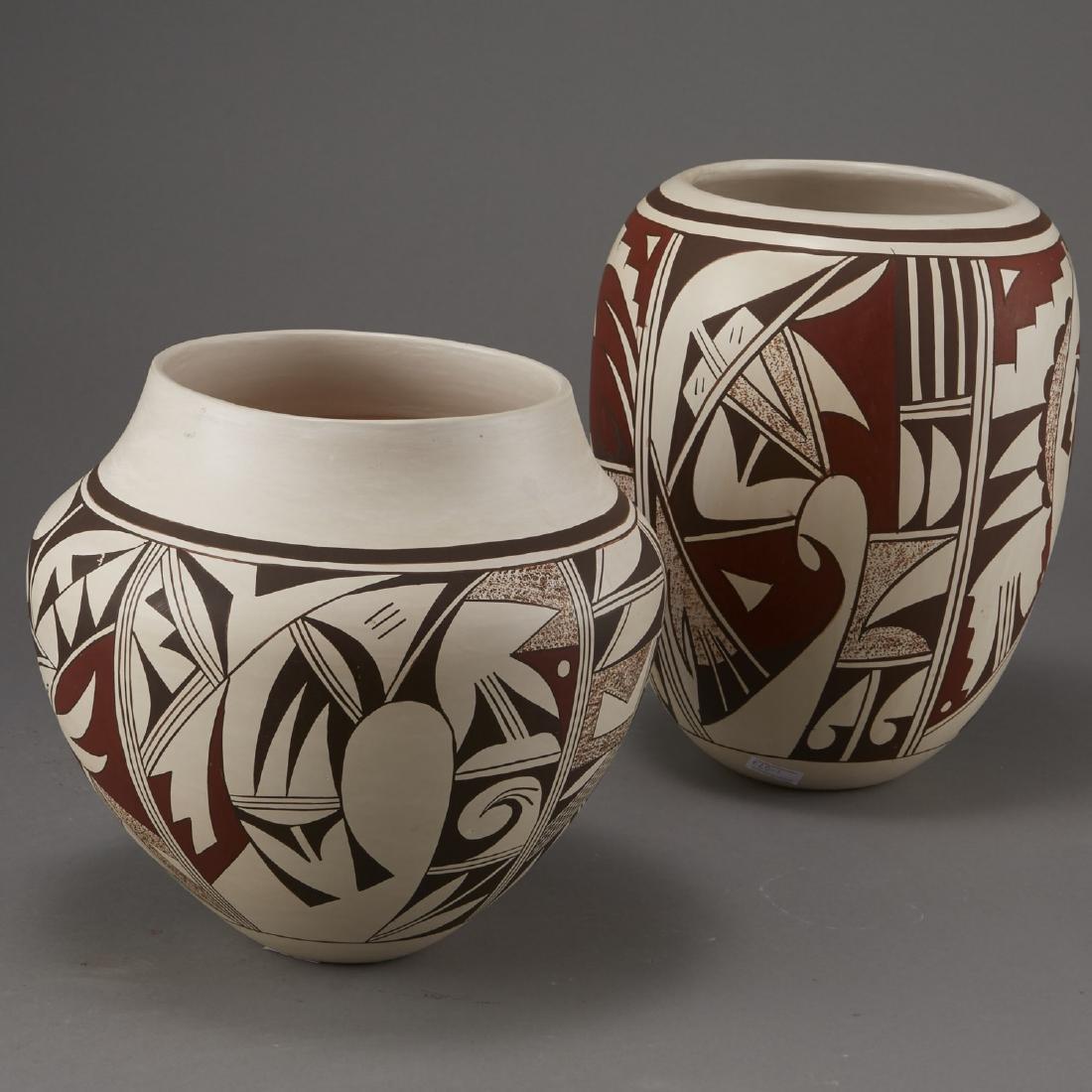 2 Joy Navasie Frog Woman Pottery Vase Bowl - 2