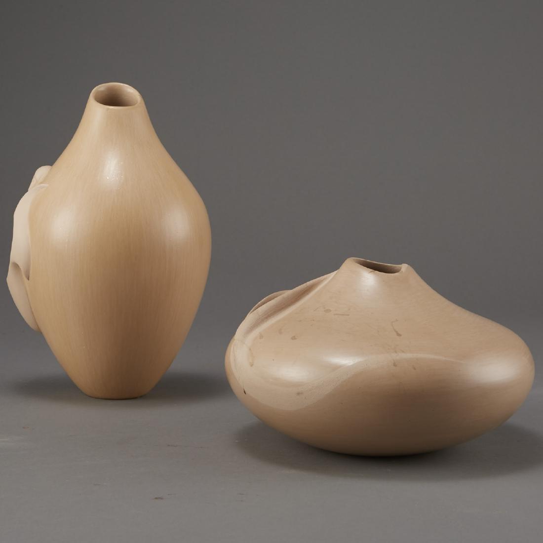 2 Creamware Hopi Vessels Qoyawayma, Nampeyo Corn - 2