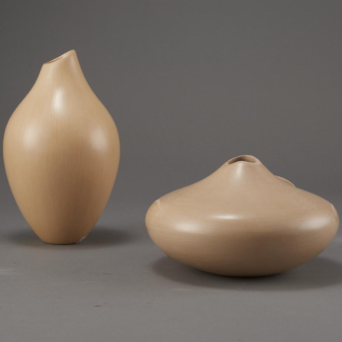 2 Creamware Hopi Vessels Qoyawayma, Nampeyo Corn - 3