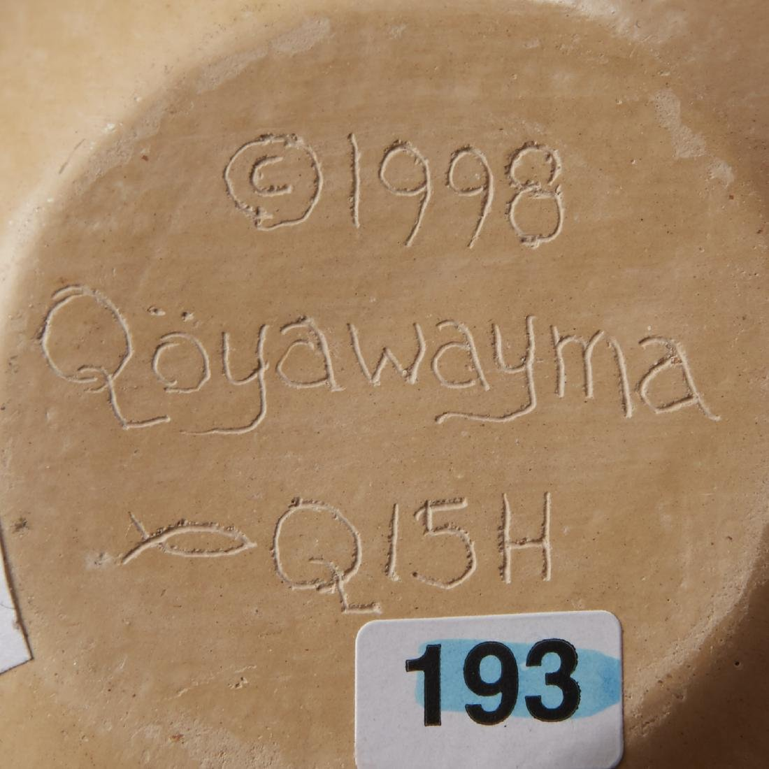 2 Creamware Hopi Vessels Qoyawayma, Nampeyo Corn - 5