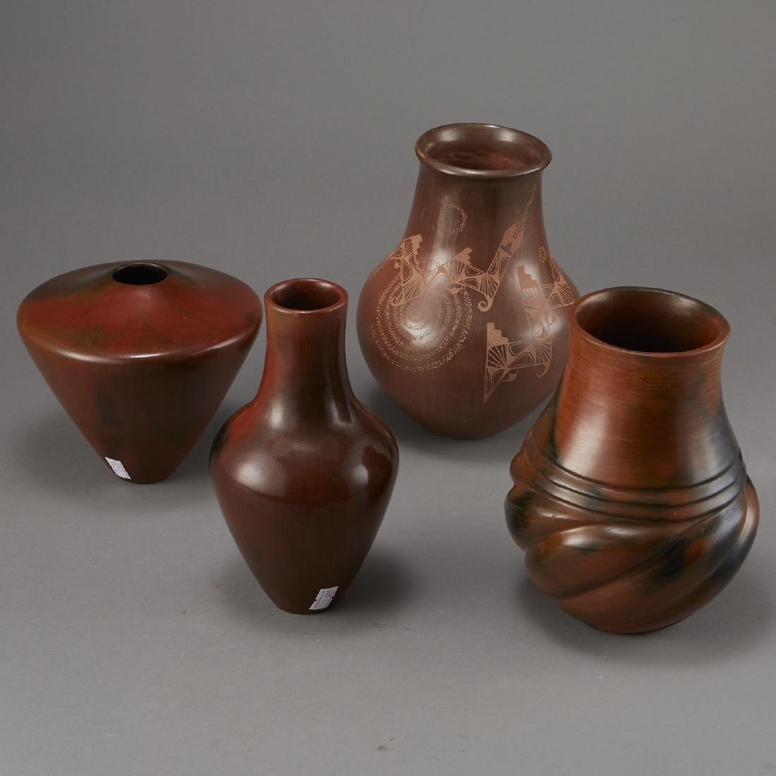 4 Brownware Pottery Manymules, Gonzalez, Cling - 3