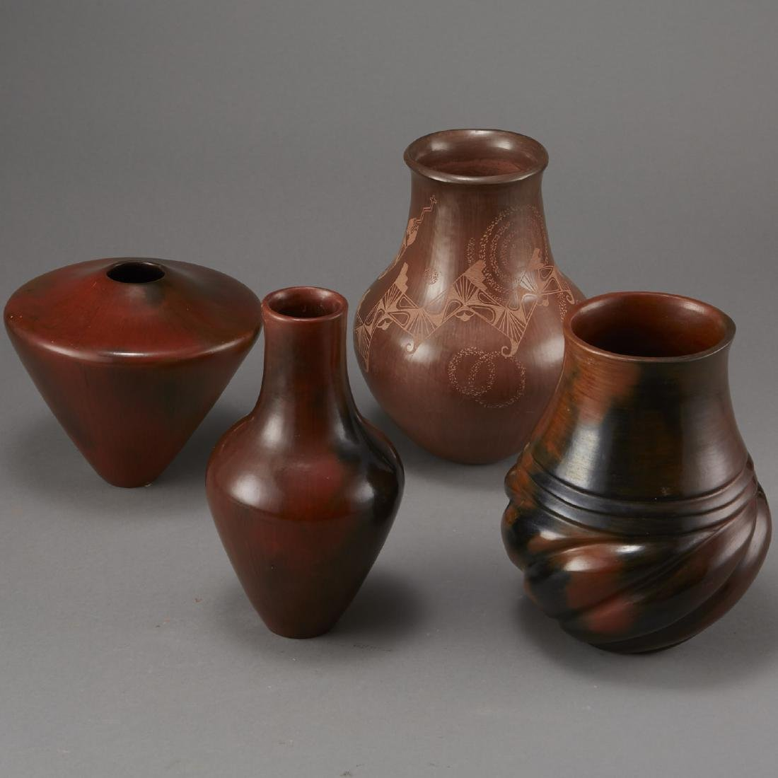 4 Brownware Pottery Manymules, Gonzalez, Cling - 4