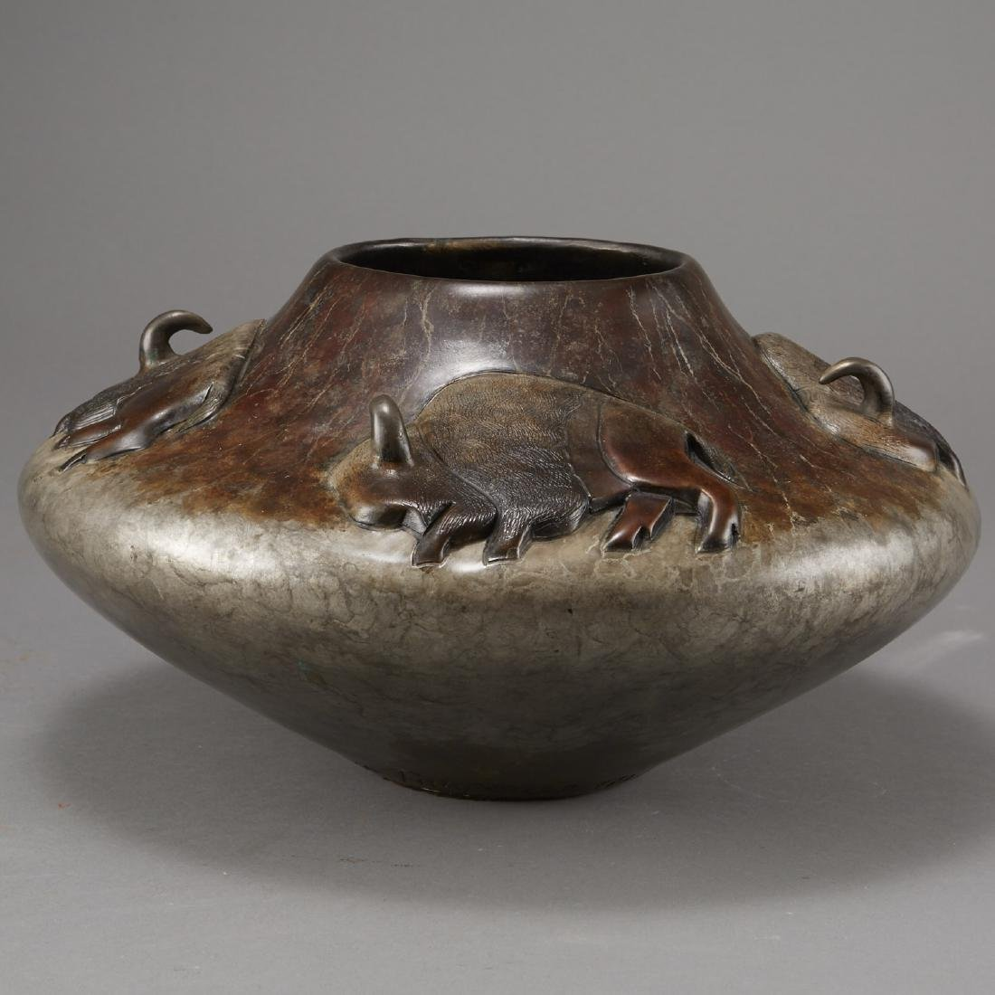 Pahponee Bronze Vessel In a Sacred Manner I Walk - 3