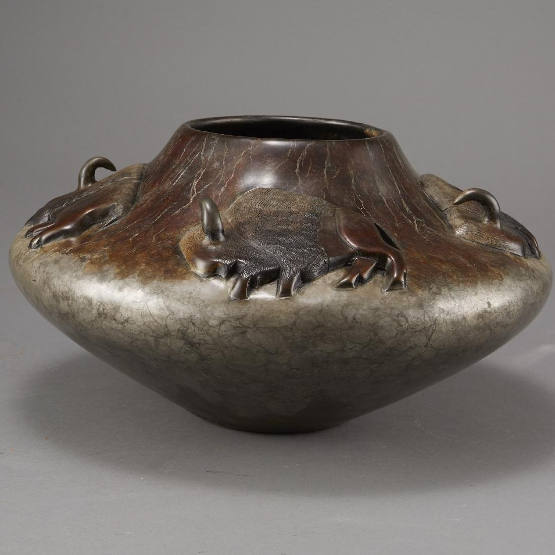 Pahponee Bronze Vessel In a Sacred Manner I Walk - 4