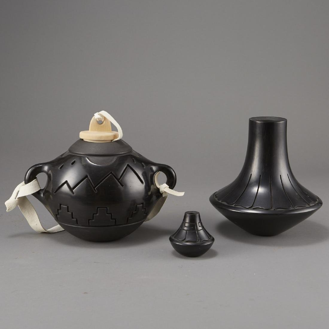 Group of Roller Santa Clara Pottery Jars
