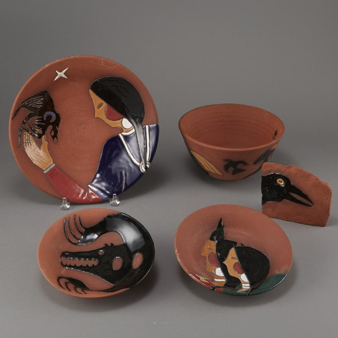 Group of 5 Glen LaFontaine Pottery pieces - 4