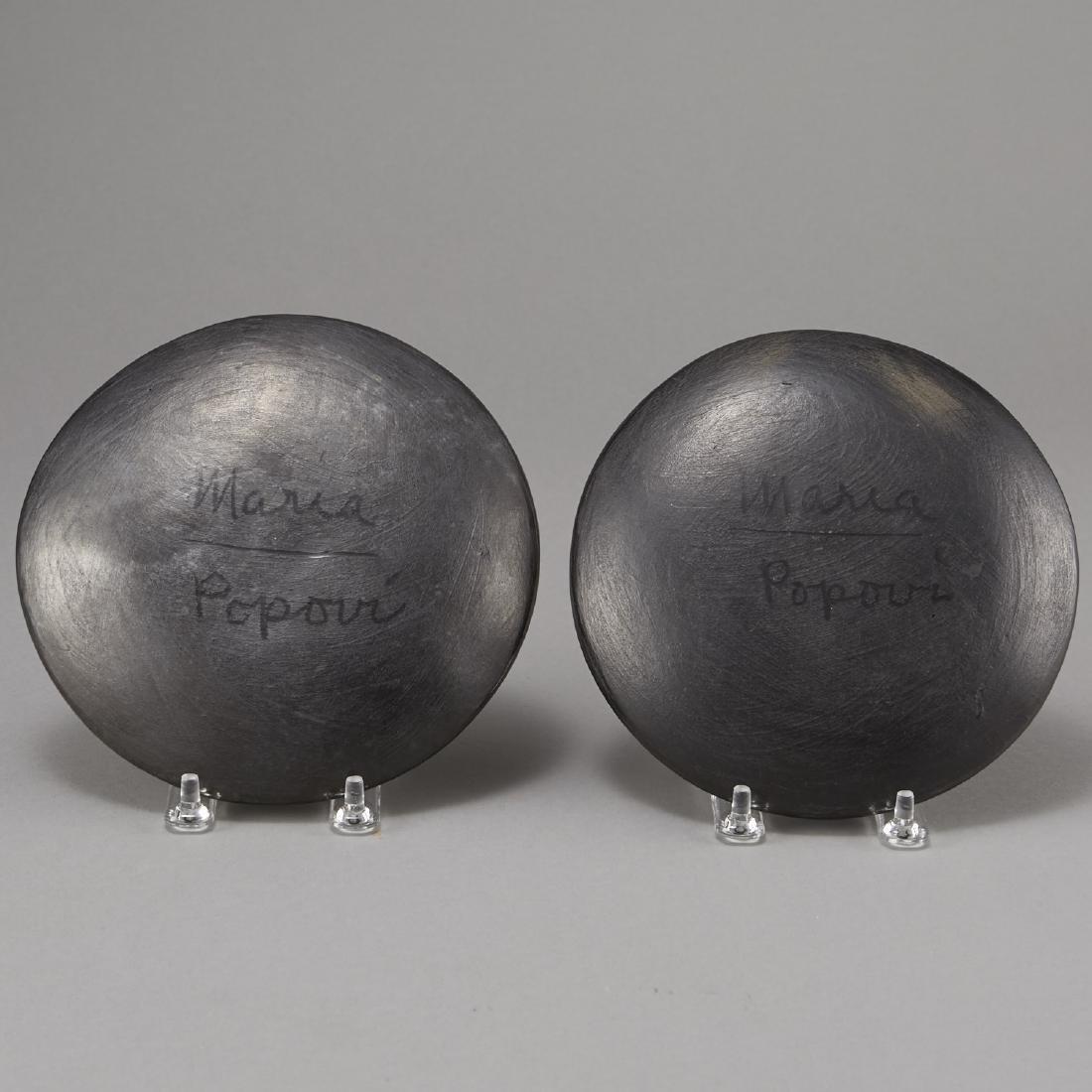 2 Maria Martinez Blackware Plates - 2