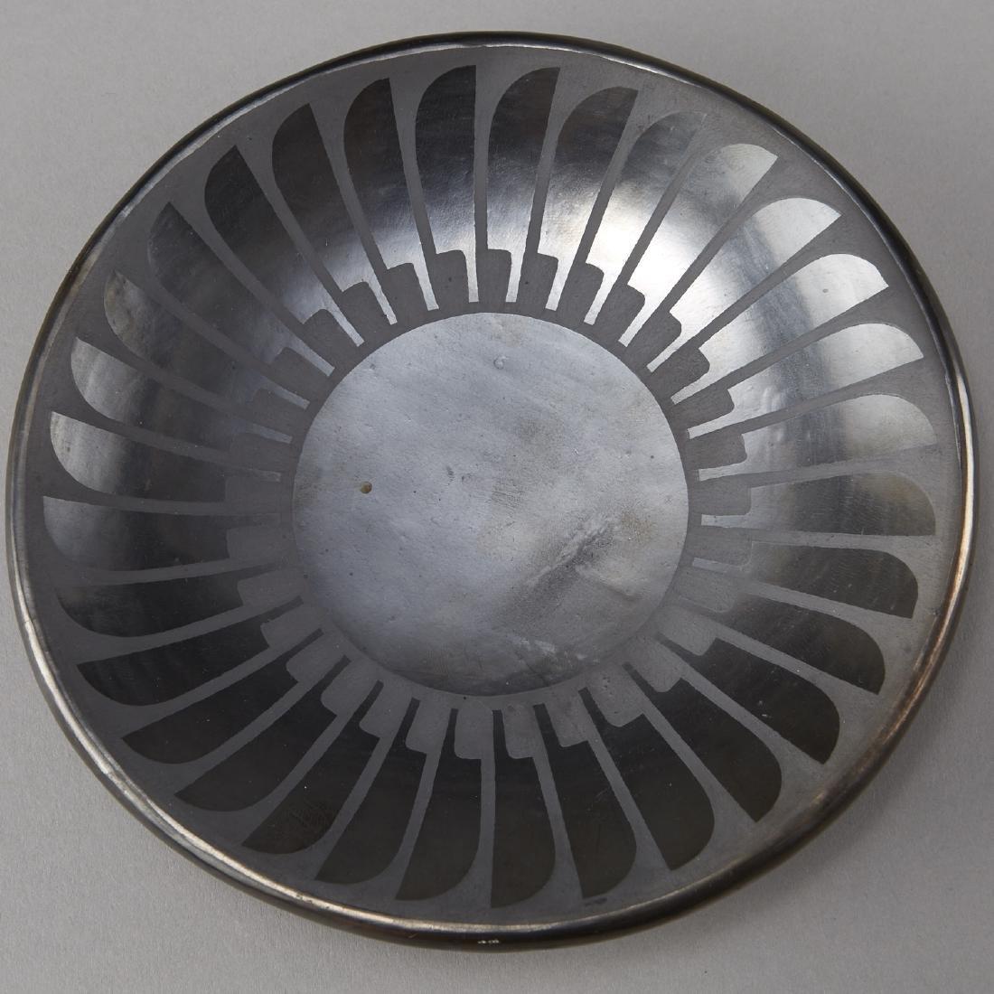 2 Maria Martinez Blackware Plates - 3