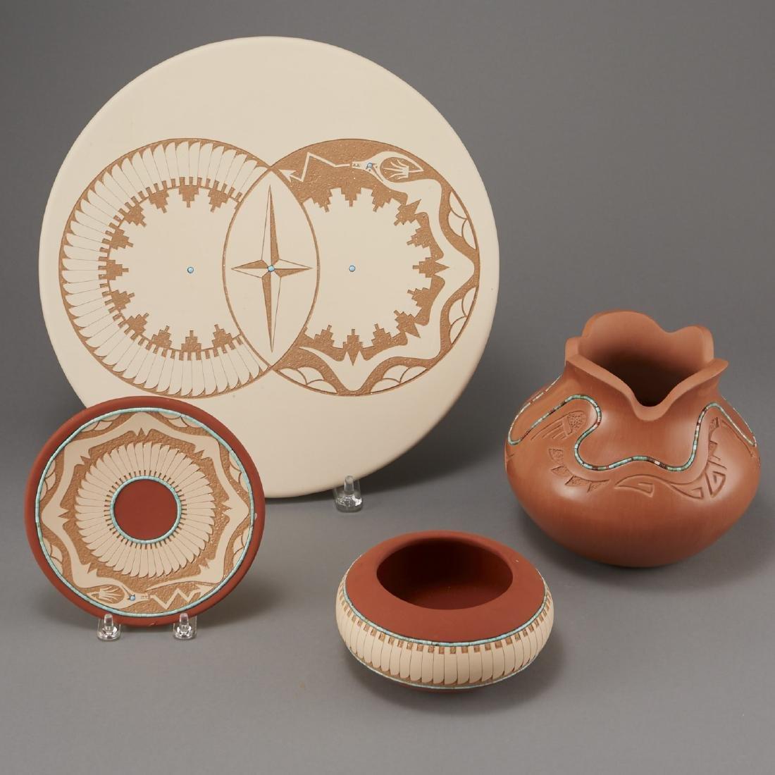 4 Pueblo Pottery Pieces Gonzalez