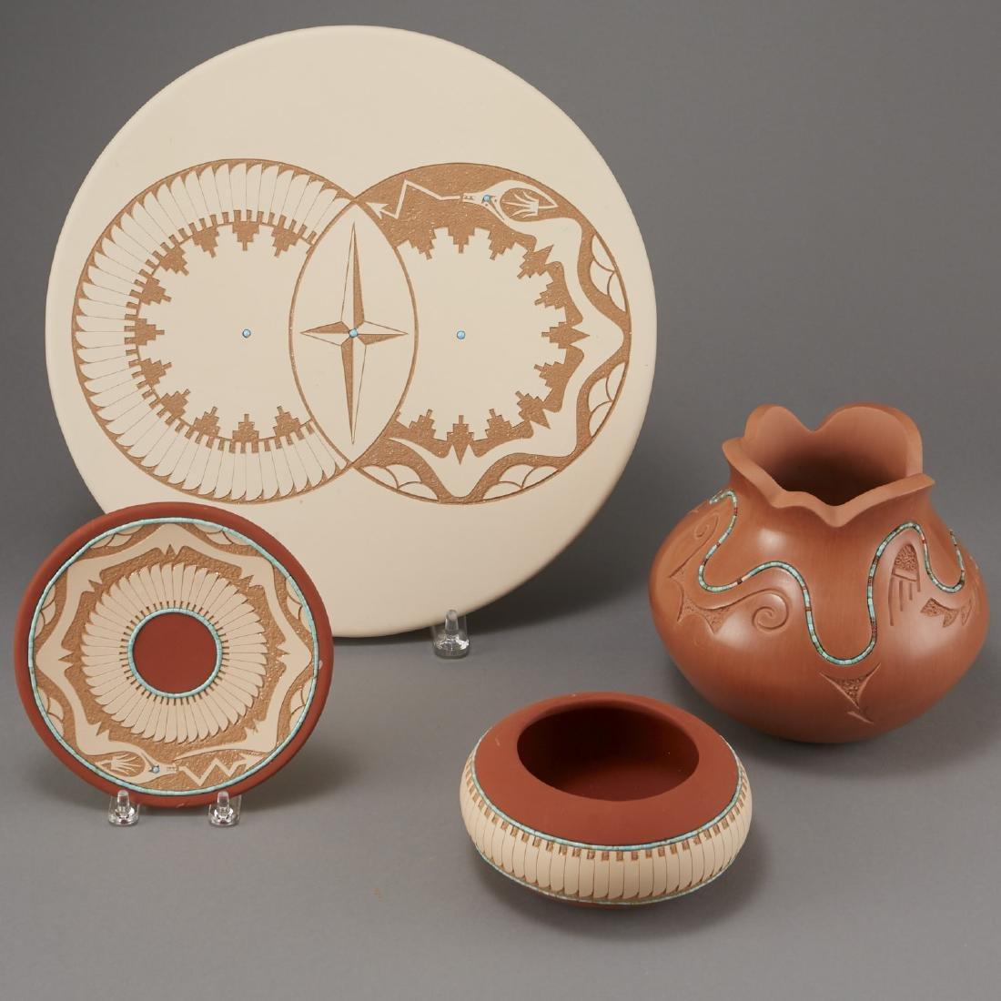 4 Pueblo Pottery Pieces Gonzalez - 2