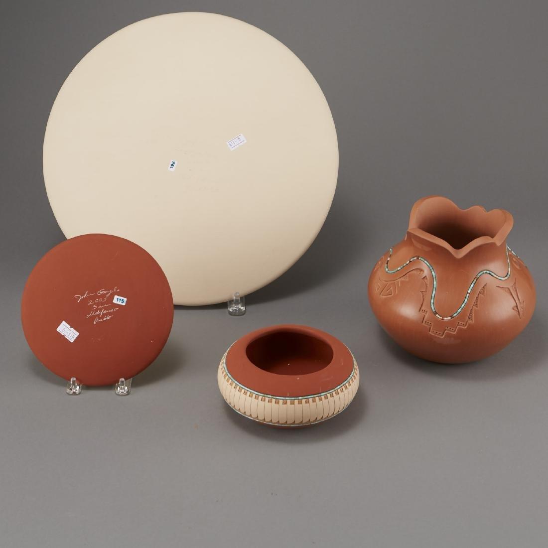 4 Pueblo Pottery Pieces Gonzalez - 3