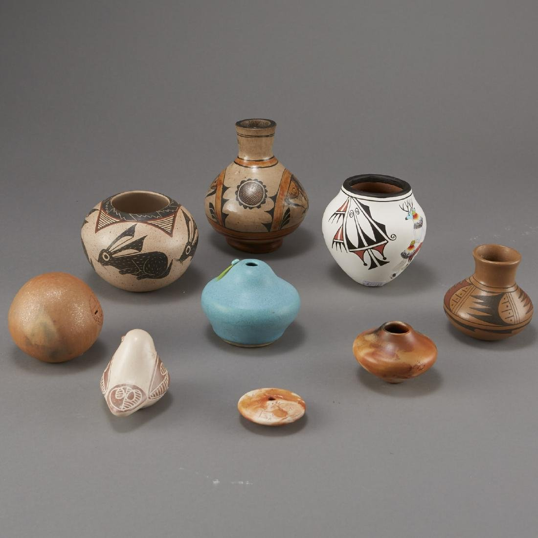 9 Pottery Pieces Pahponee, Lujan-Hauer, Mateos - 2