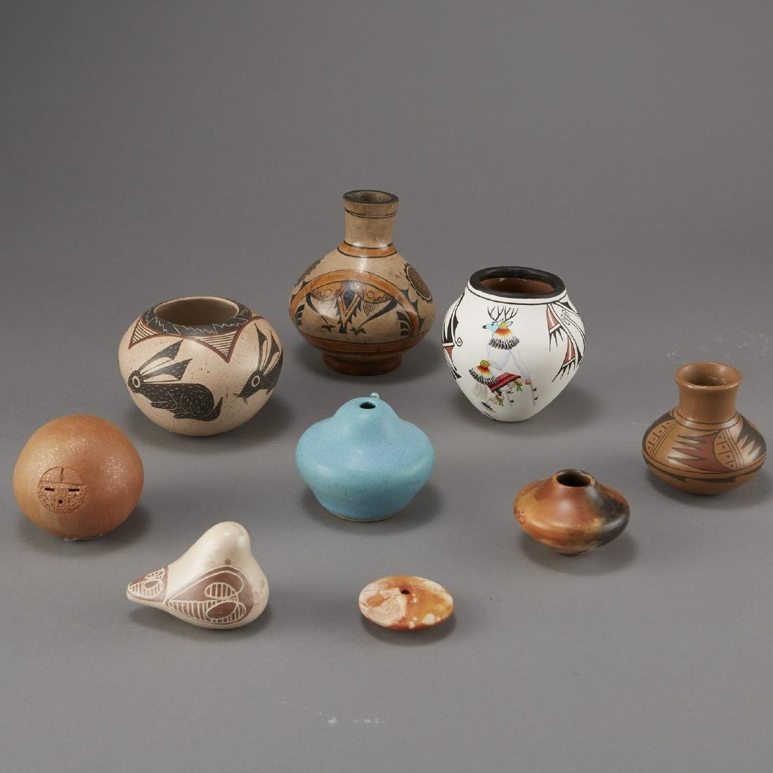 9 Pottery Pieces Pahponee, Lujan-Hauer, Mateos - 3