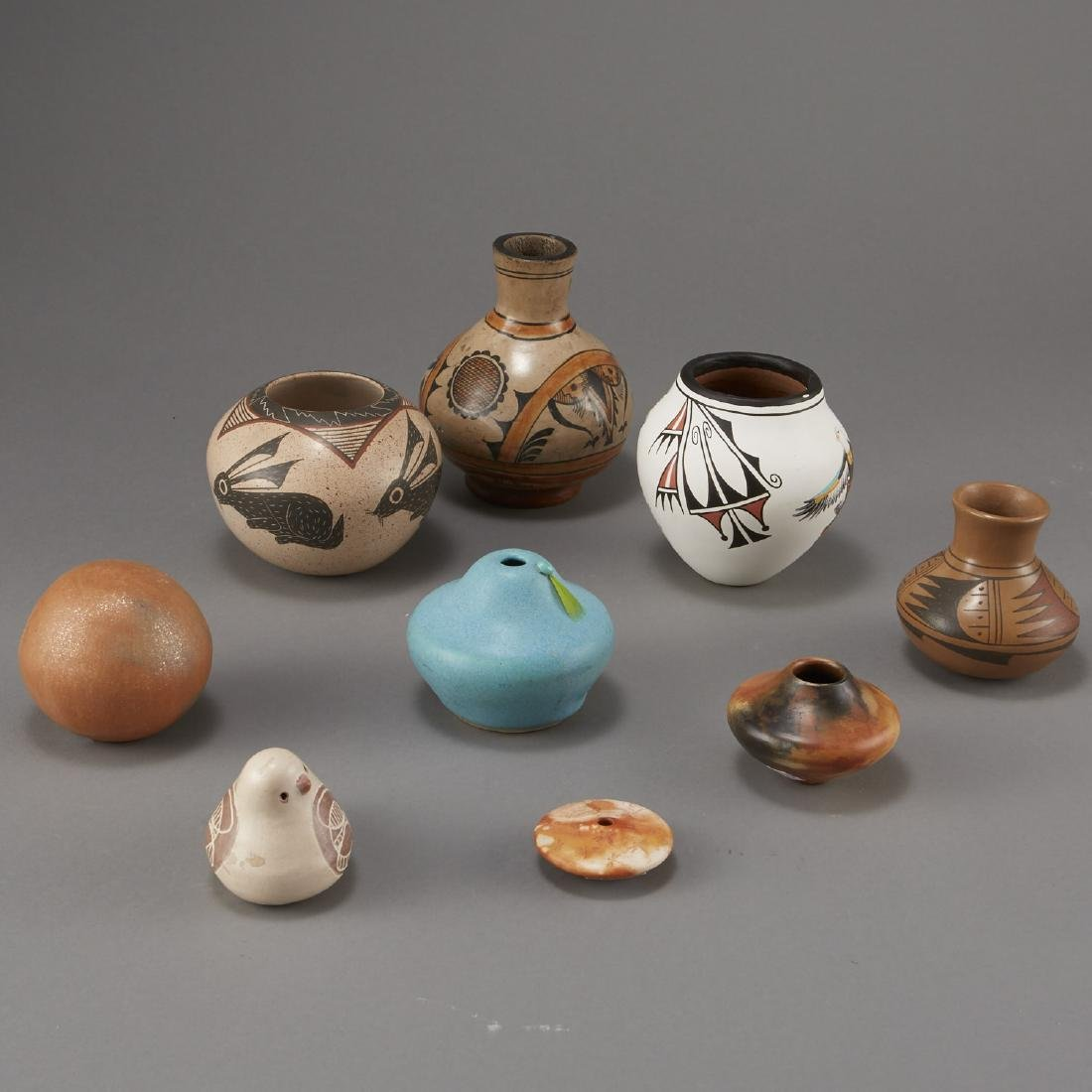 9 Pottery Pieces Pahponee, Lujan-Hauer, Mateos - 4