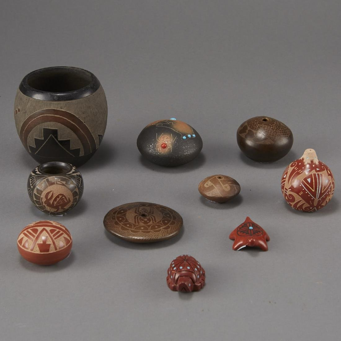 Group of 10 Small Pueblo Pottery Pieces
