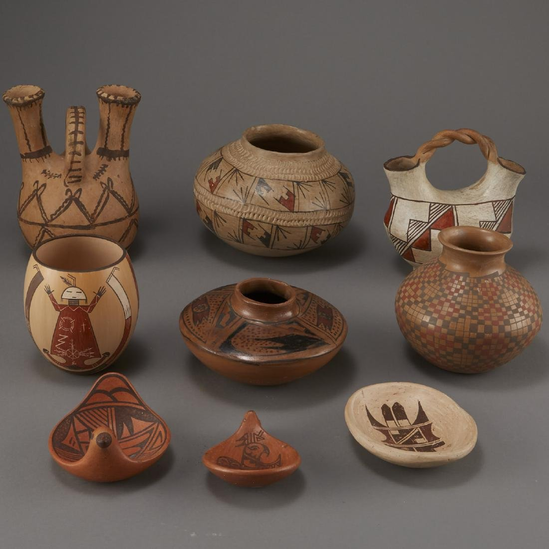 9 Pieces Pottery Ida Sahmie, Namoki, Hoyee