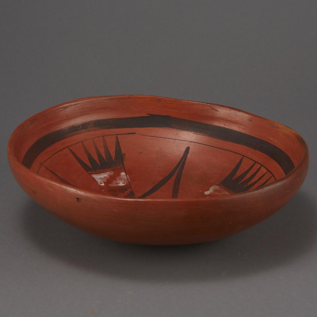 Redware Bowl Attributed to Nampeyo of Hano - 2