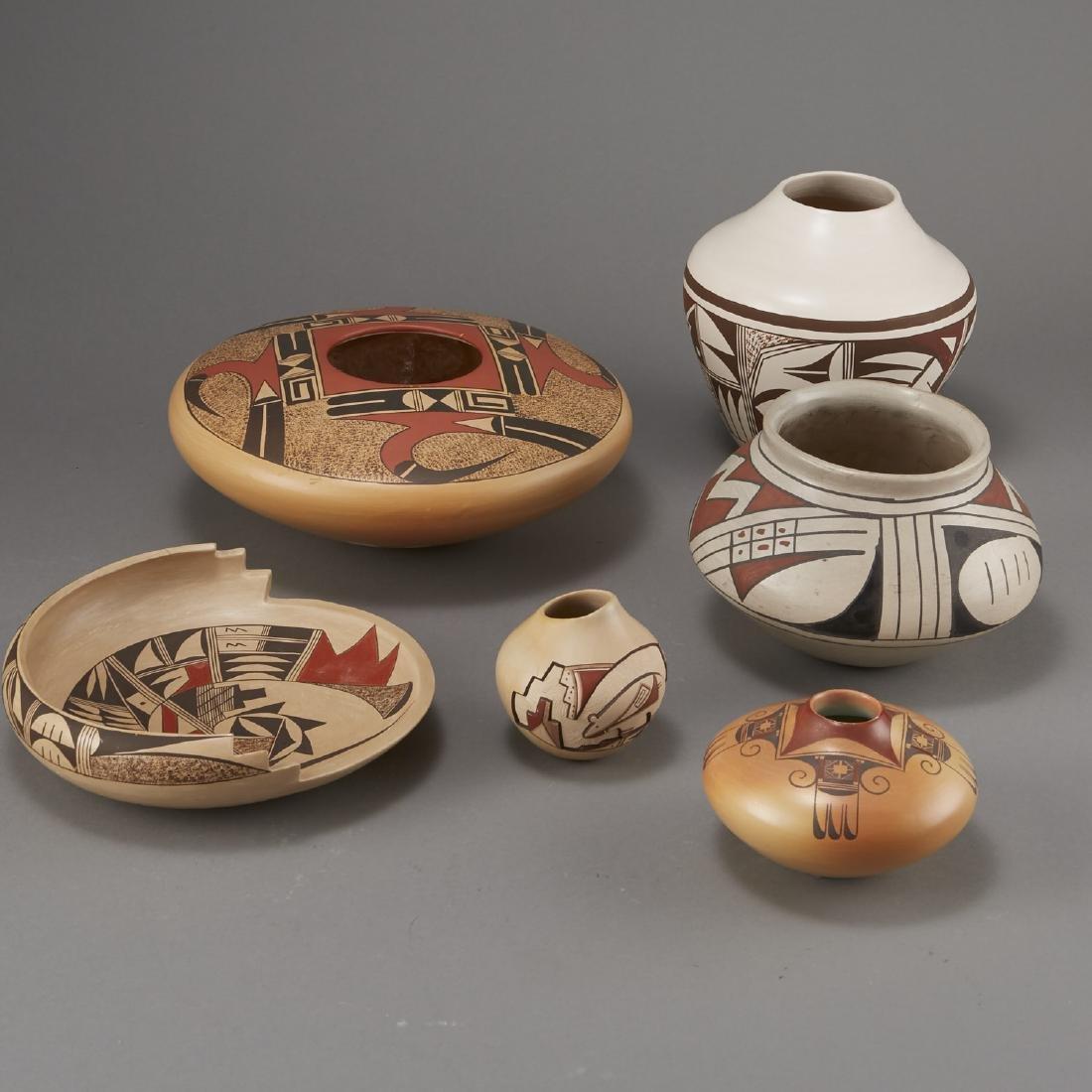 6 Pieces Pueblo Pottery Nampeyo, Navasie