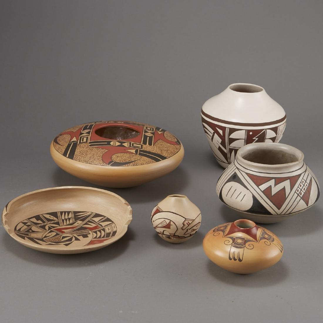 6 Pieces Pueblo Pottery Nampeyo, Navasie - 2