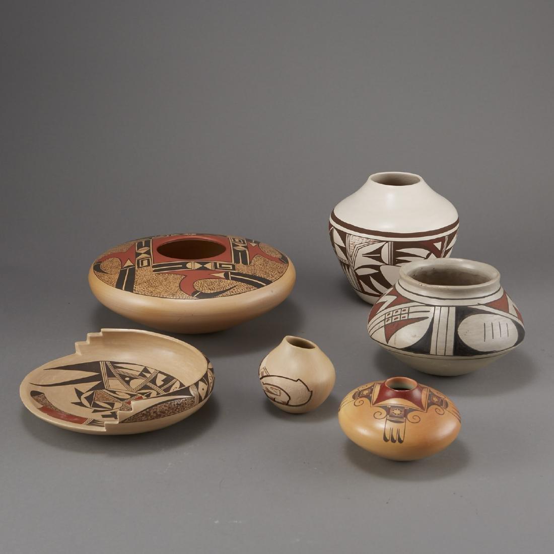 6 Pieces Pueblo Pottery Nampeyo, Navasie - 3