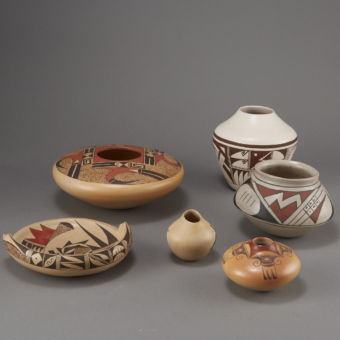 6 Pieces Pueblo Pottery Nampeyo, Navasie - 4