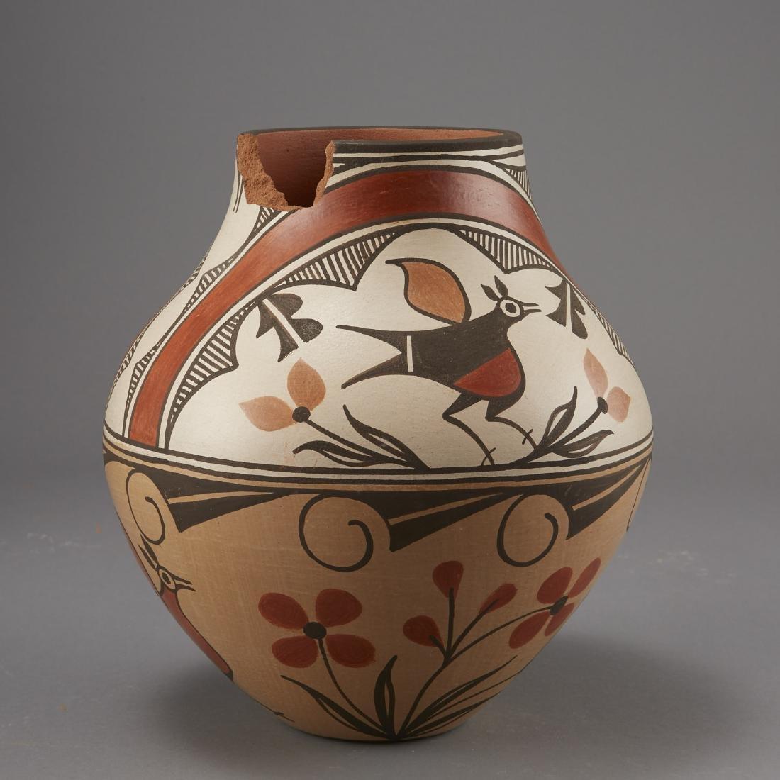6 Pueblo Pottery Pots incld Fragua, Nez, Medina - 6